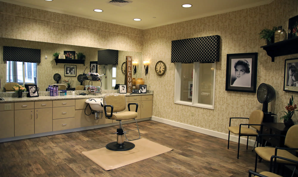Salon Inside of Our Senior Living Community In Edmonds