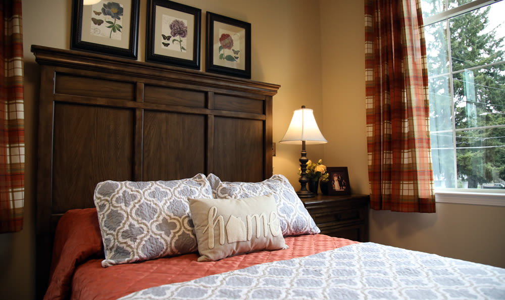 Bedroom Detail Inside of Our Senior Living Community In Edmonds