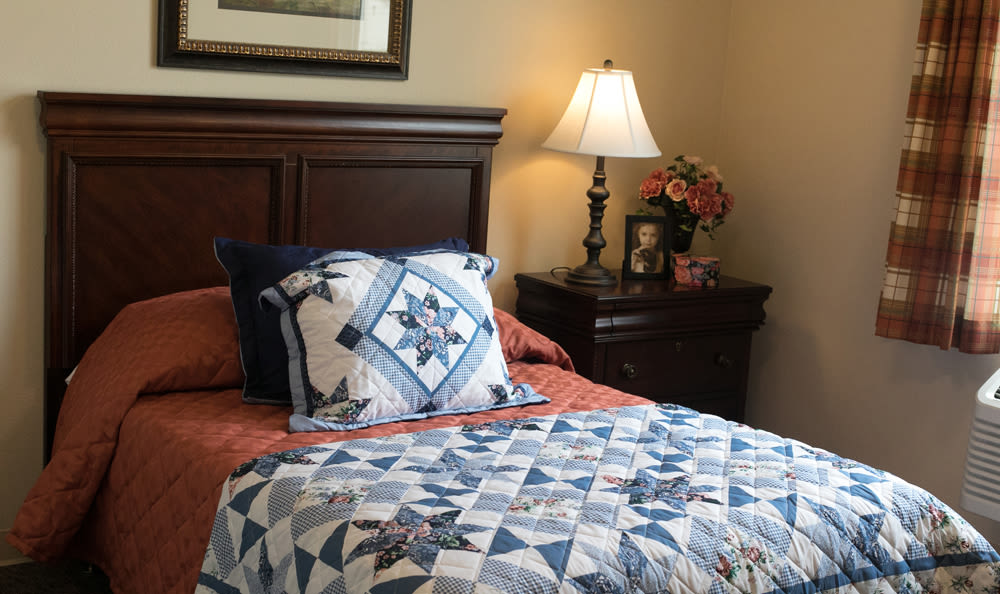 Bedroom Inside of Our Senior Living Community In Edmonds