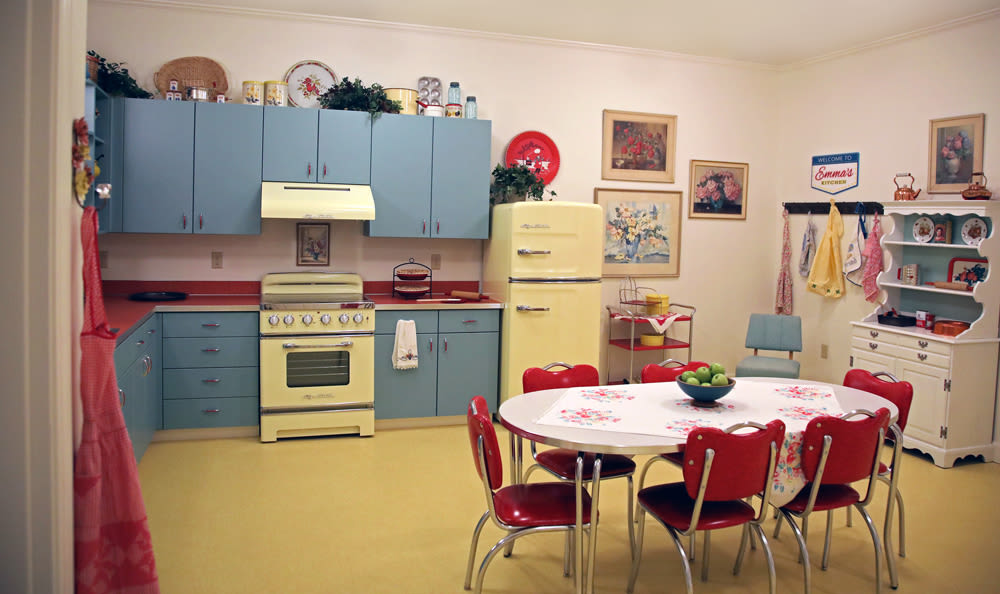 50's Styled Working Kitchen Inside of Our Senior Living Community In Edmonds