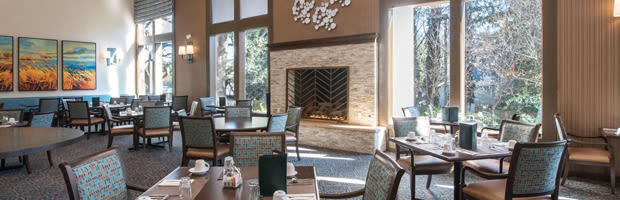 Dining offerings available at The Terraces of Roseville.