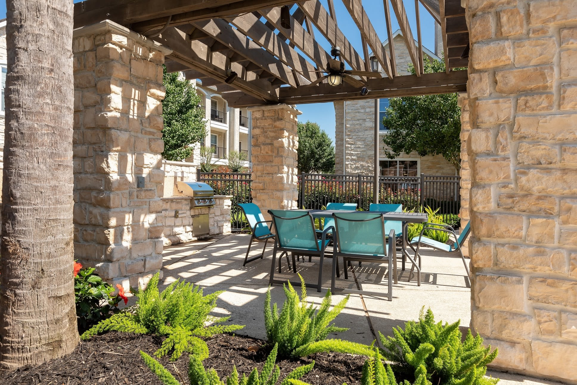Poolside BBQ at The Retreat at Cinco Ranch in Katy, Texas