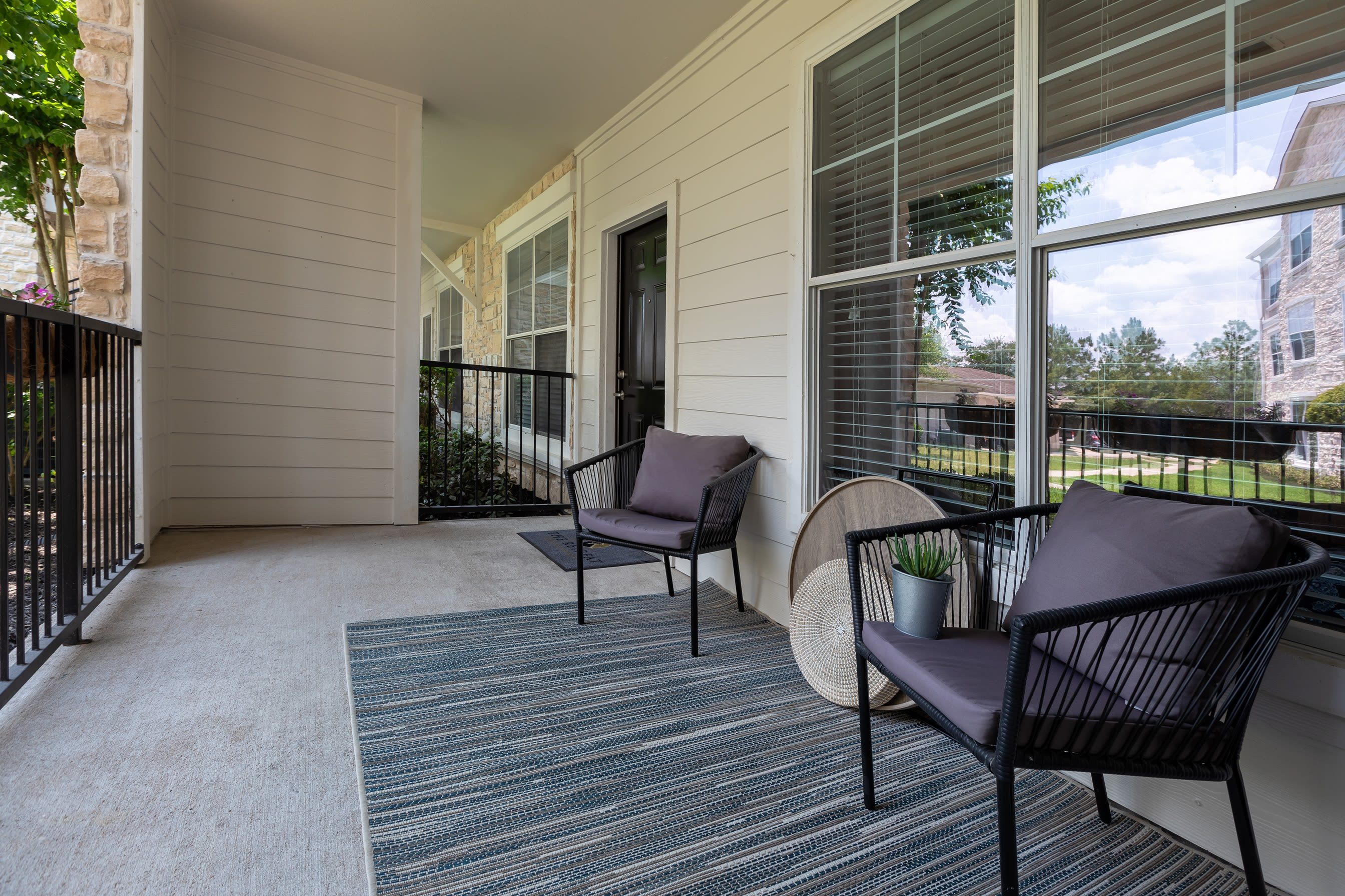 Unit patio at The Retreat at Cinco Ranch in Katy, Texas