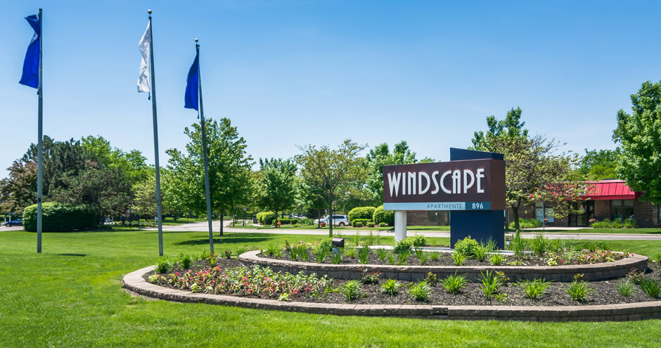 Outdoor Sign for Windscape of Naperville Apartments in Naperville, IL