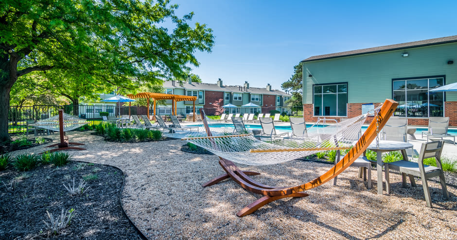 Shaded hammock at Windscape of Naperville Apartments in Naperville, IL