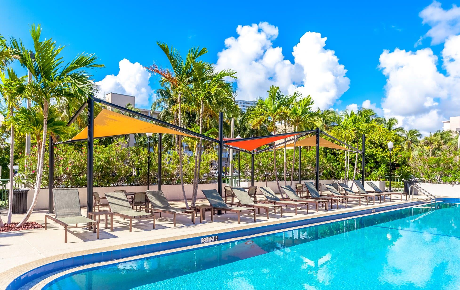 Cabana and Hammocks at our Sunny Isles Beach, FL apartment homes