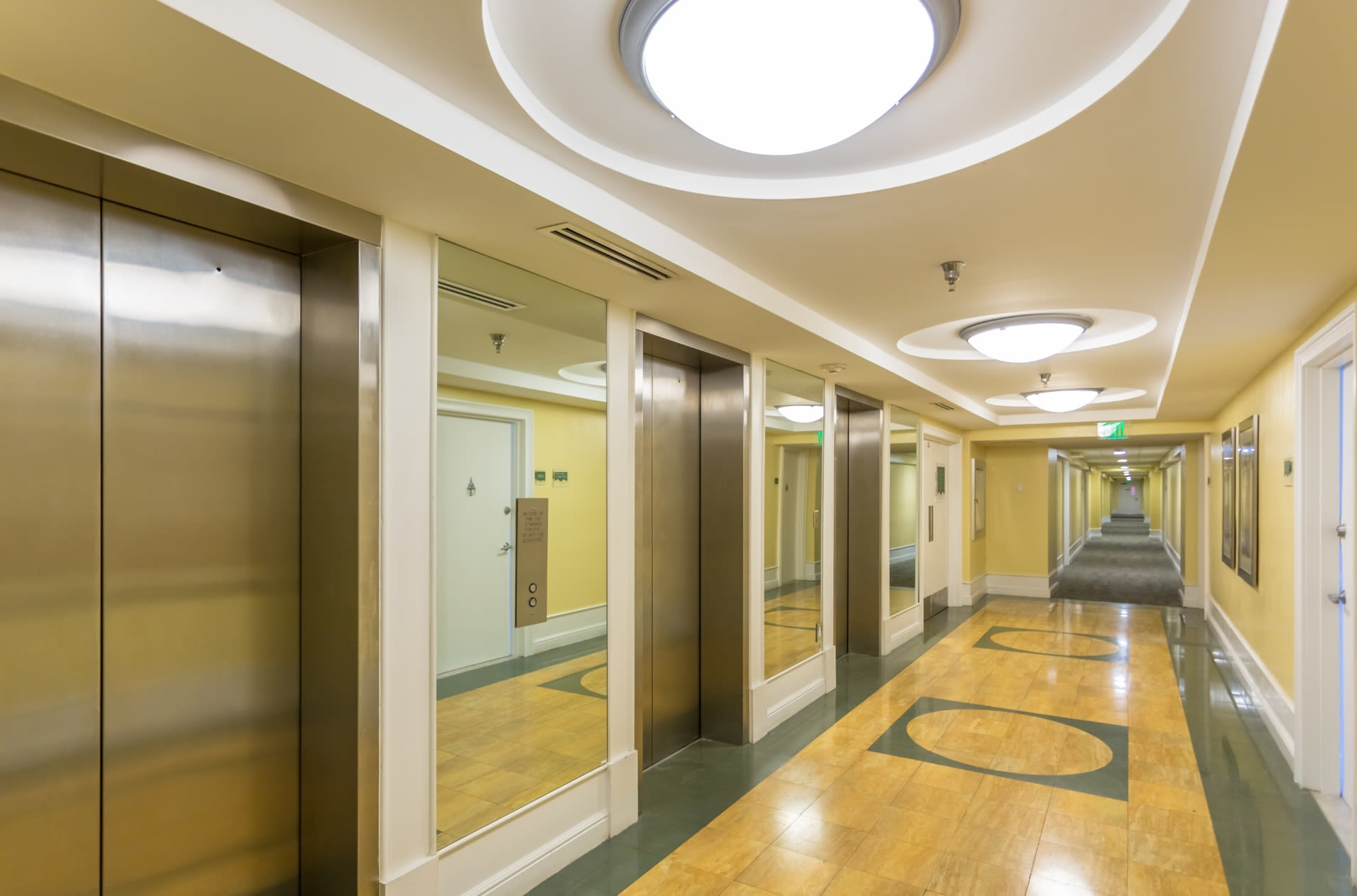 Bright Hallways at our Sunny Isles Beach, FL apartment homes