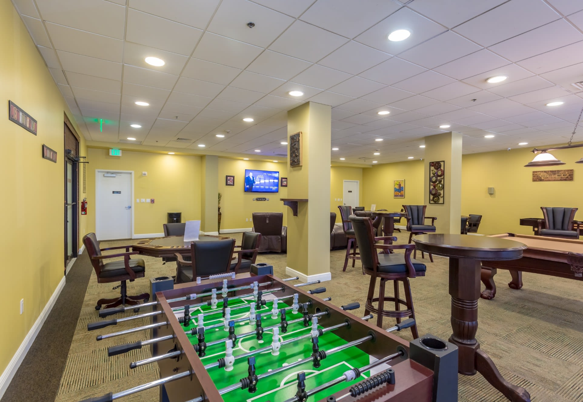 Game Room at our Sunny Isles Beach, FL apartment homes