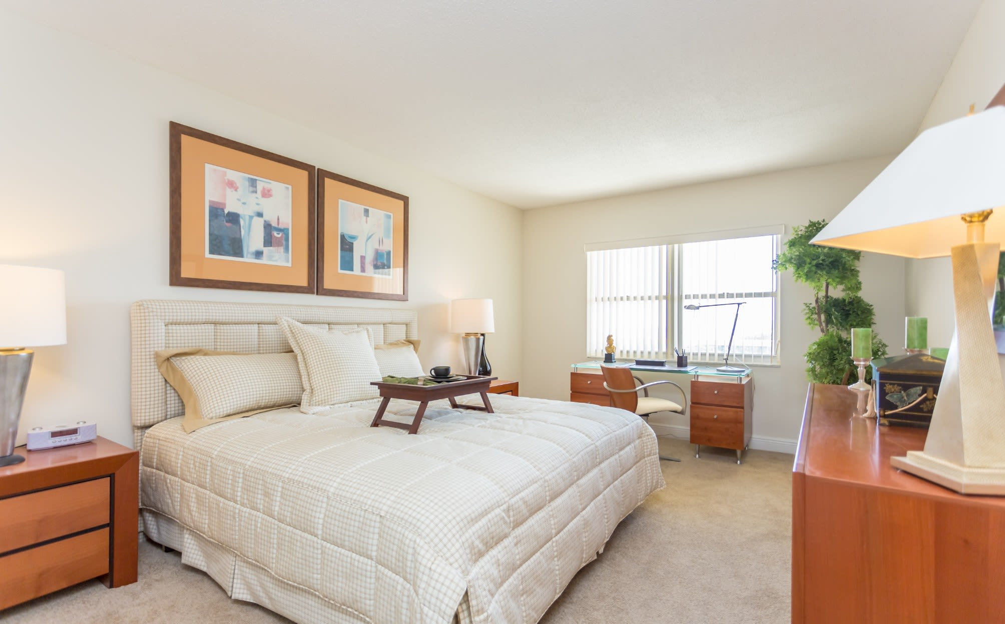 Bedroom at our Sunny Isles Beach, FL apartment homes