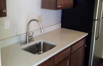 Modern Kitchen at the apartments in Nashville