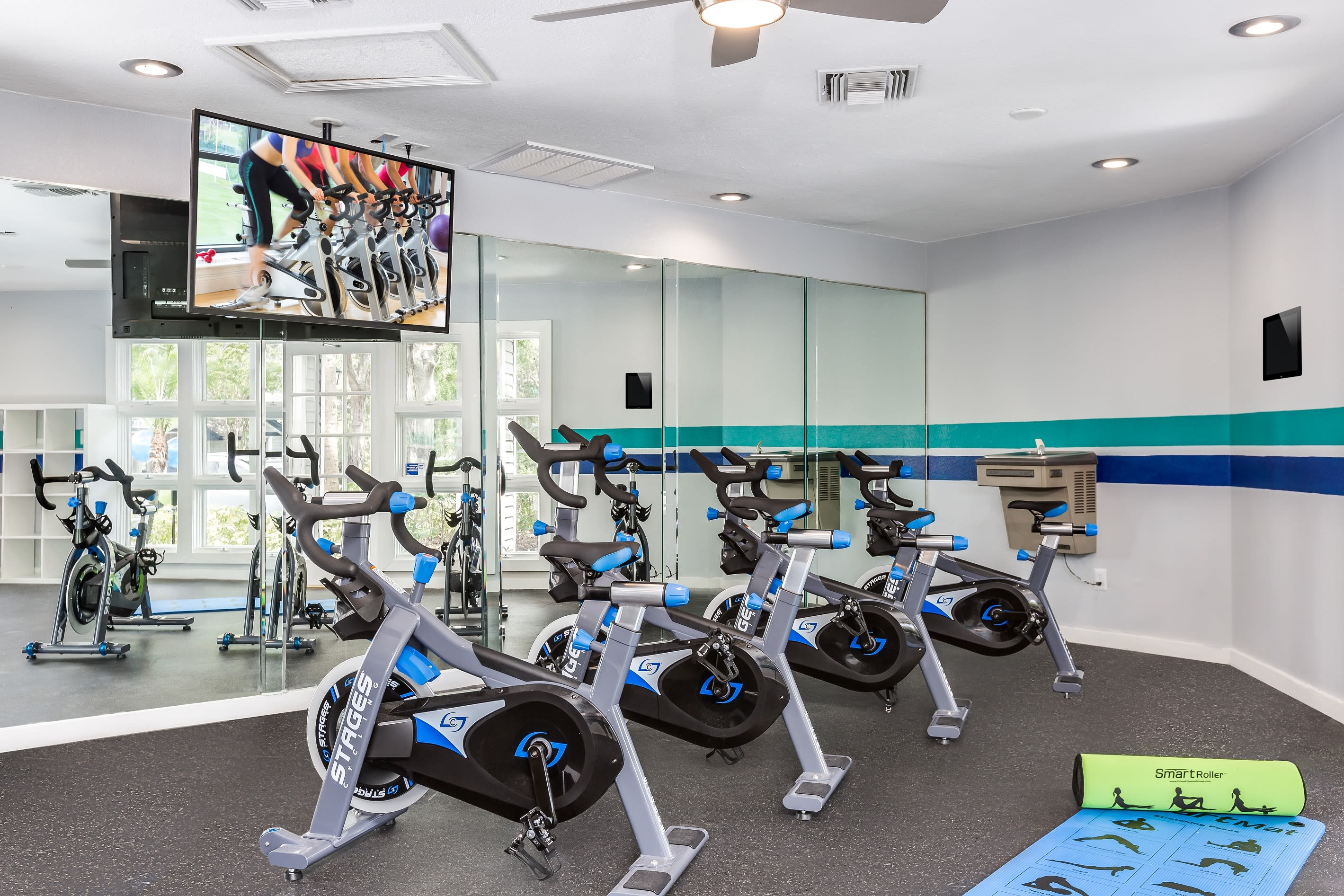 Plenty of stationary bikes found at Reserve at Lake Irene in Casselberry, Florida