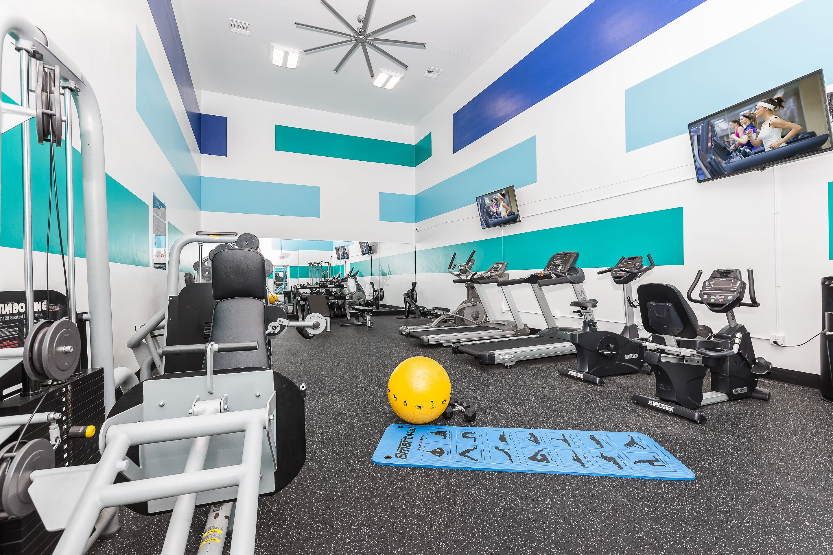Large fitness center at Reserve at Lake Irene in Casselberry, Florida