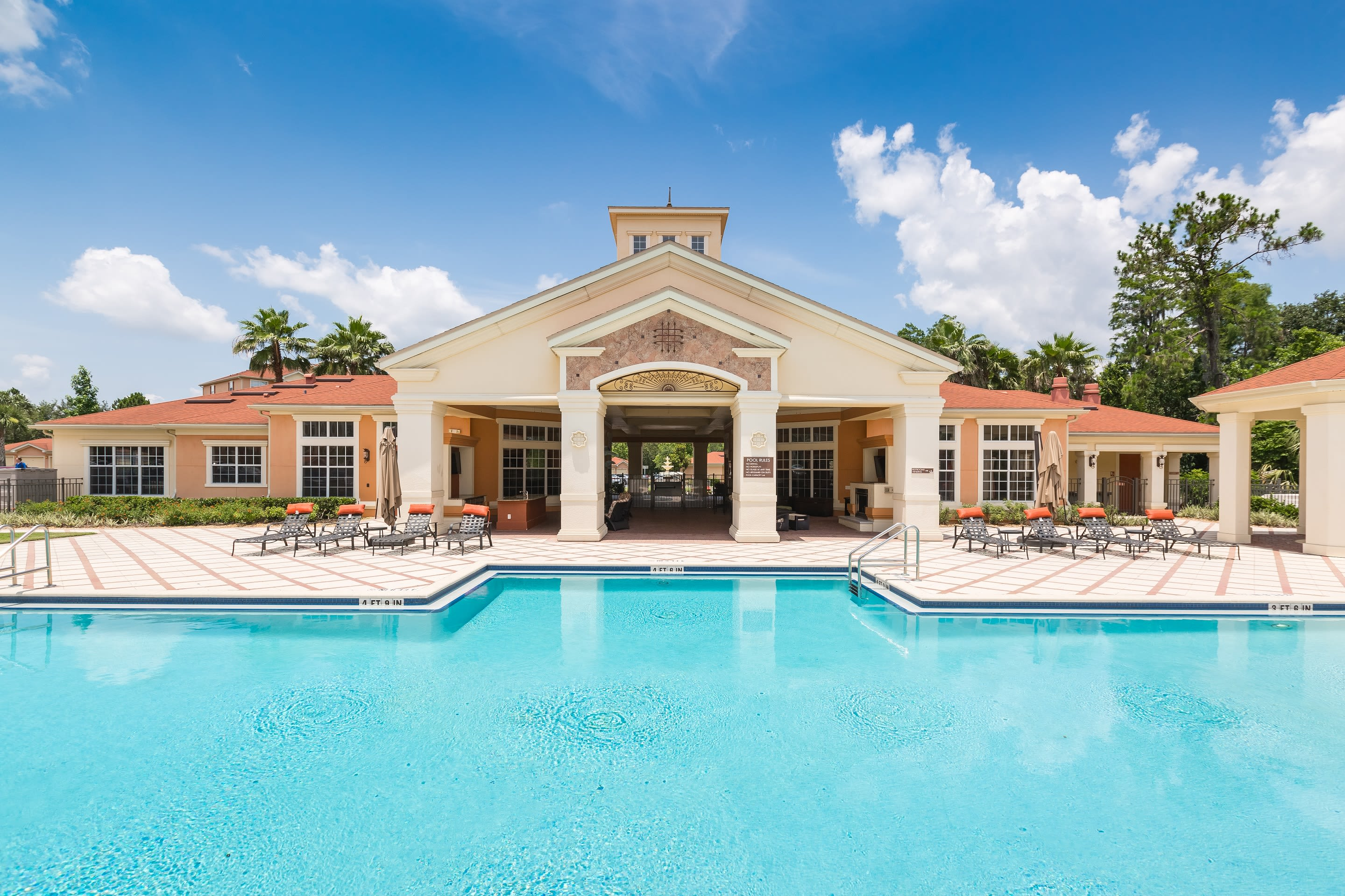 The Aspect resort style pool in Kissimmee, Florida