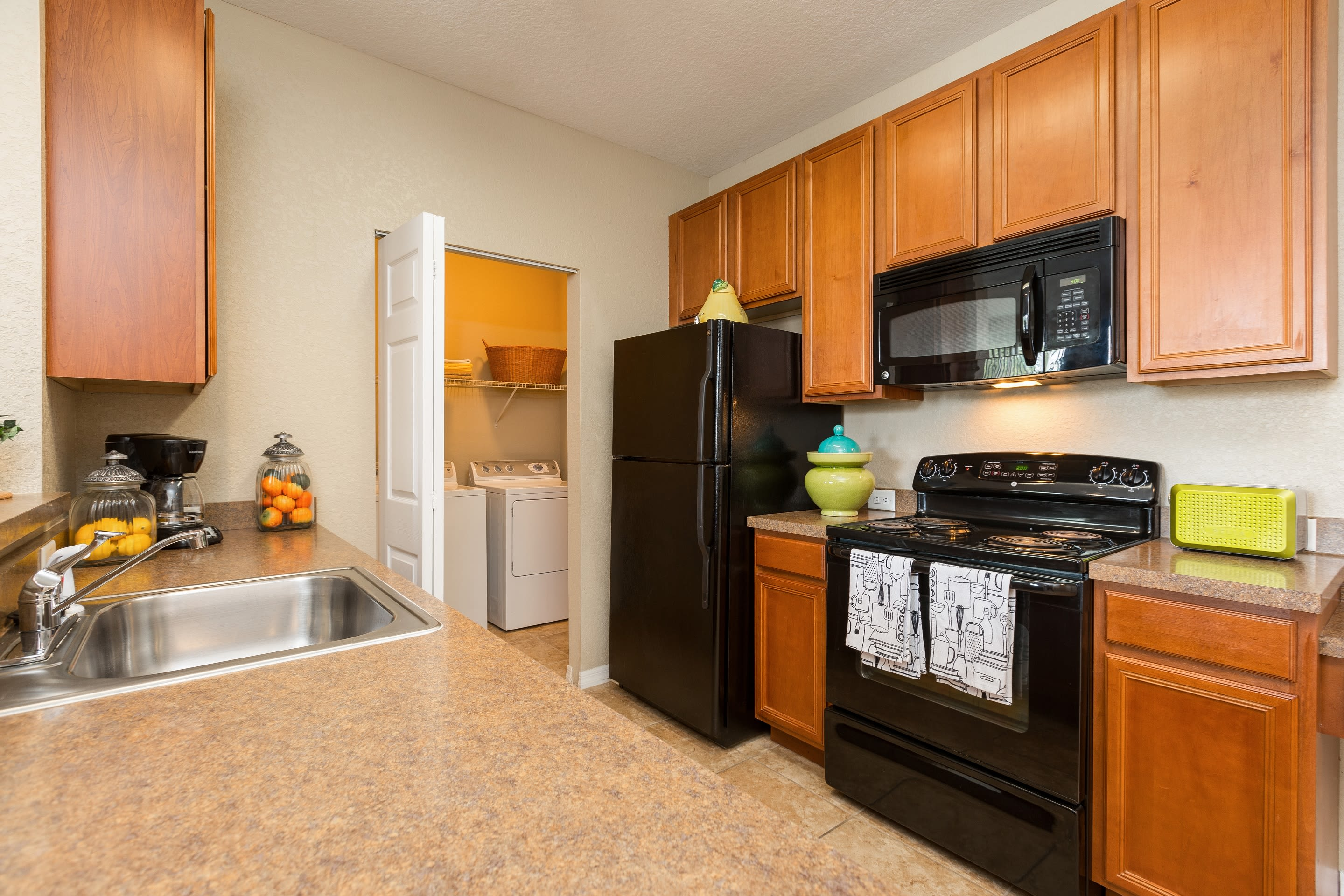 Spacious kitchen at The Aspect in Kissimmee, Florida