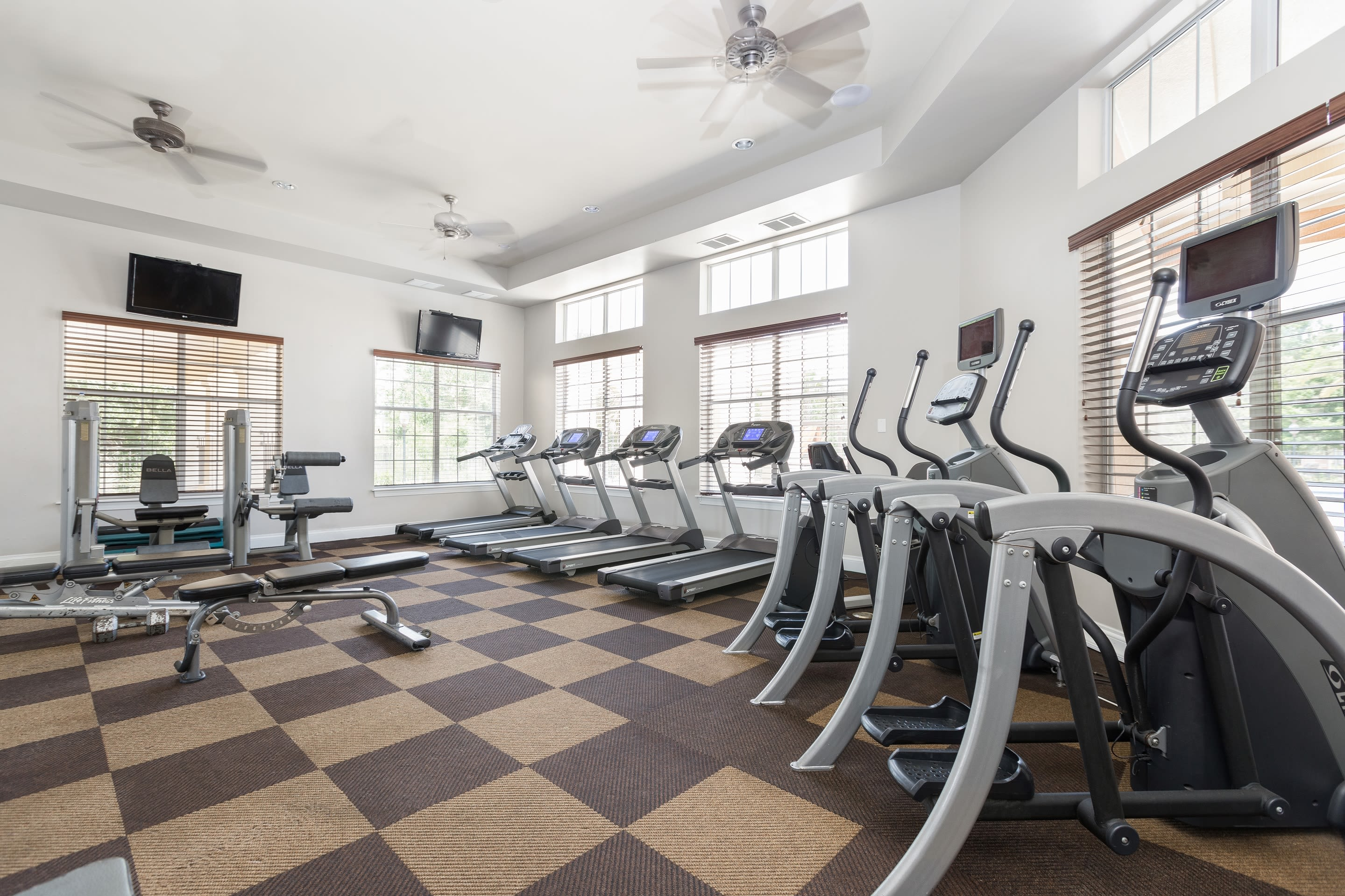 Fitness center at The Aspect in Kissimmee, Florida
