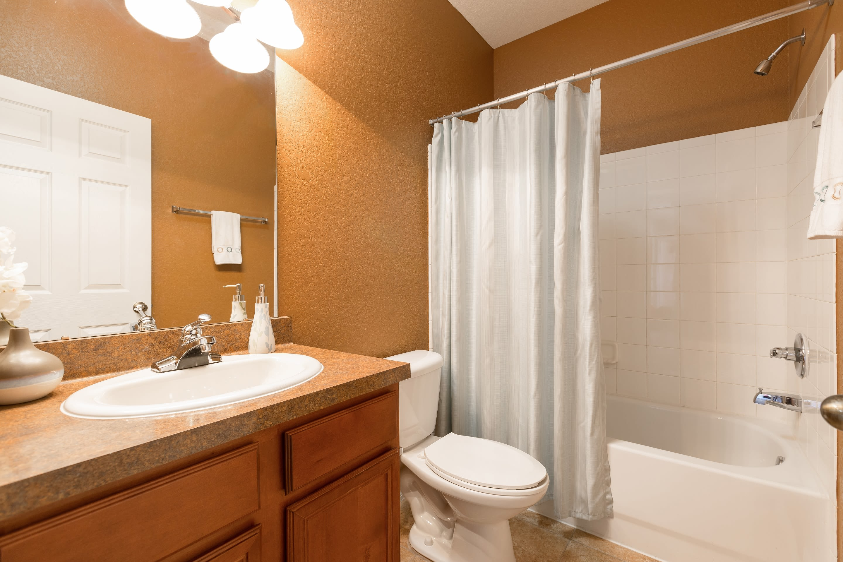 Modern bathroom at The Aspect in Kissimmee, Florida