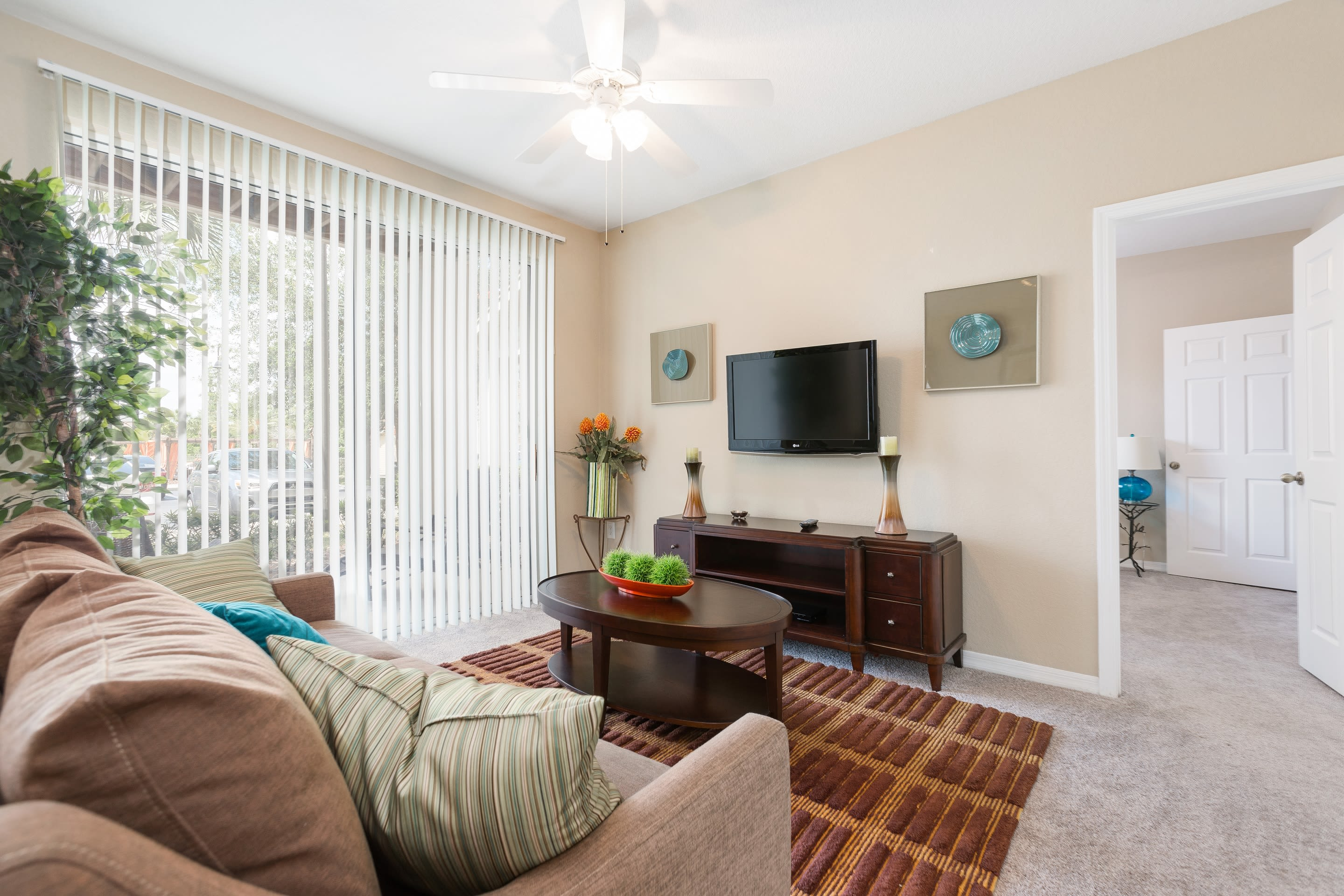 Spacious living room at The Aspect in Kissimmee, Florida