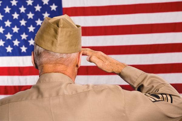 Veterans and spouses receive benefits at our Maryland senior living community