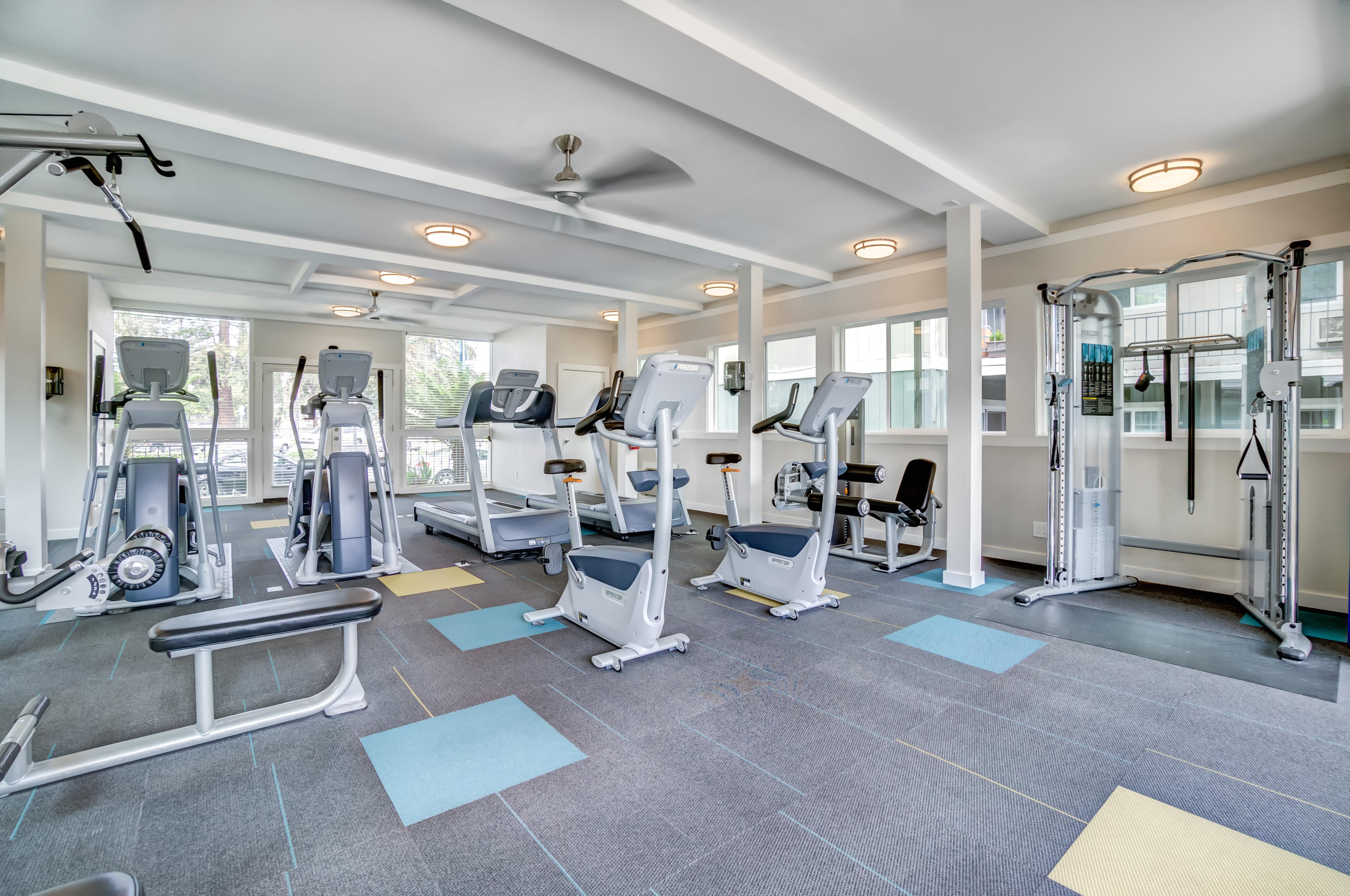 Fitness Center at Sofi at Los Gatos Creek in San Jose, CA