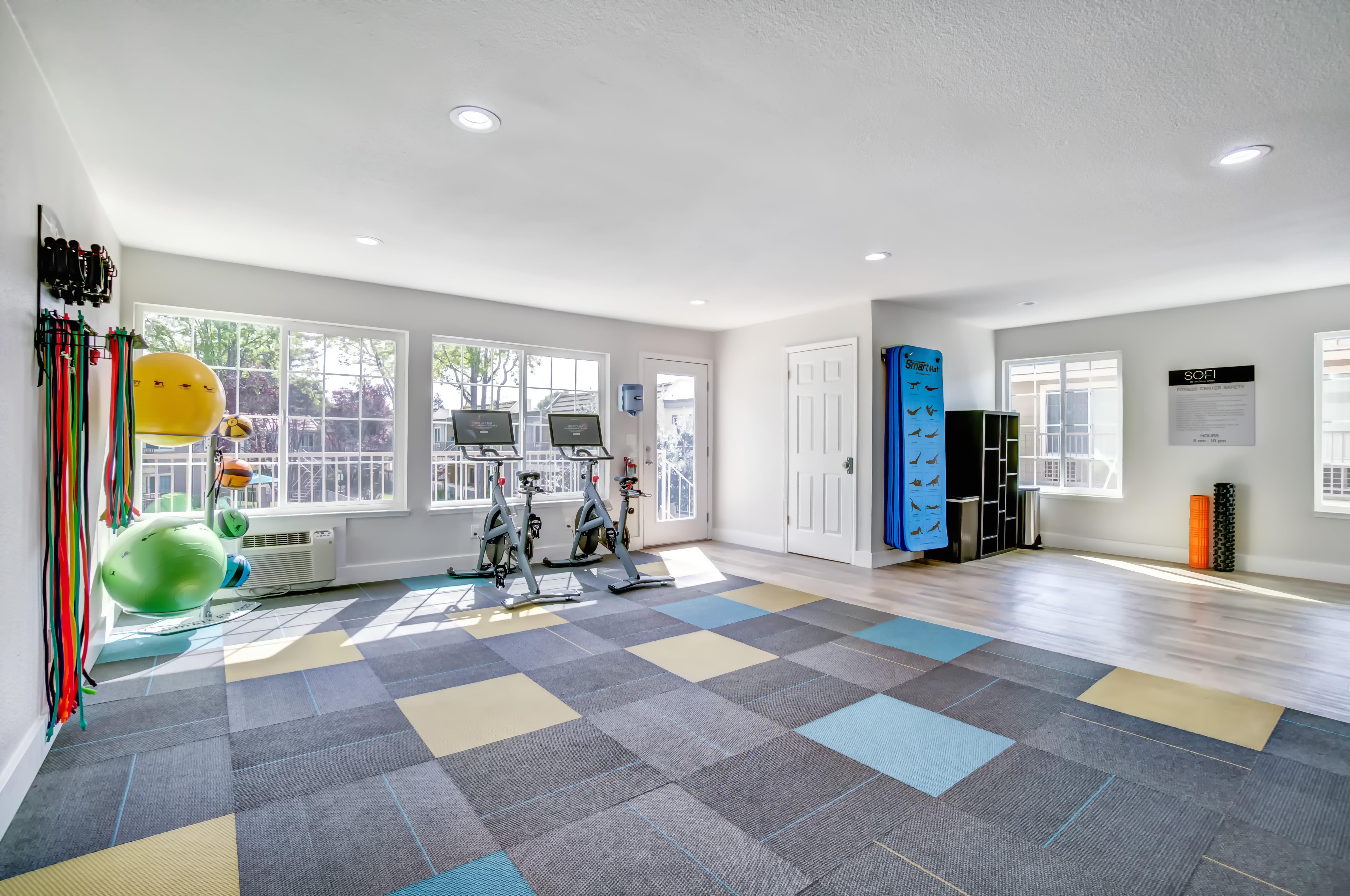 Exercise Room at Sofi at Los Gatos Creek in San Jose, CA