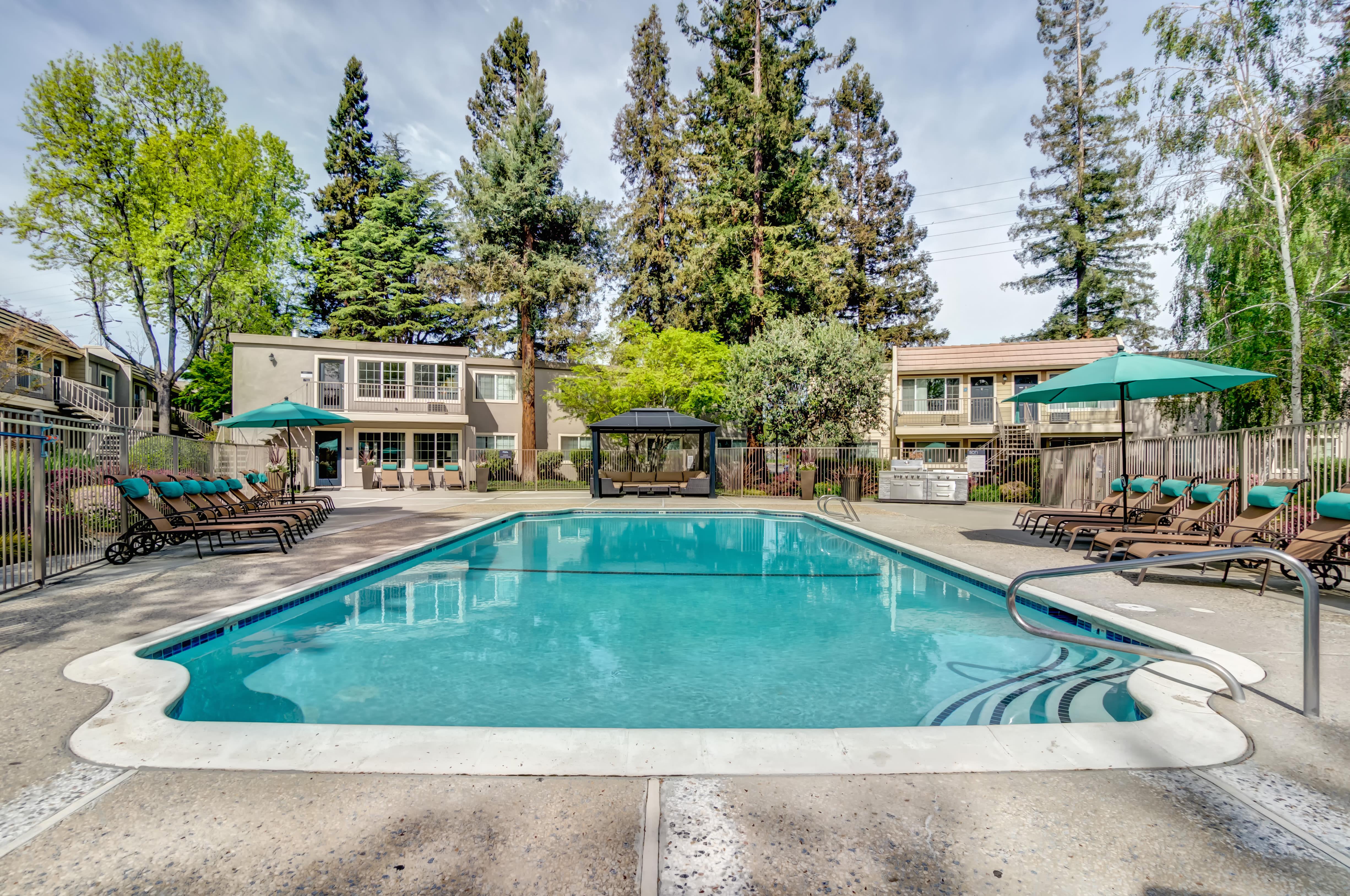 Pool at Sofi at Los Gatos Creek in San Jose, CA