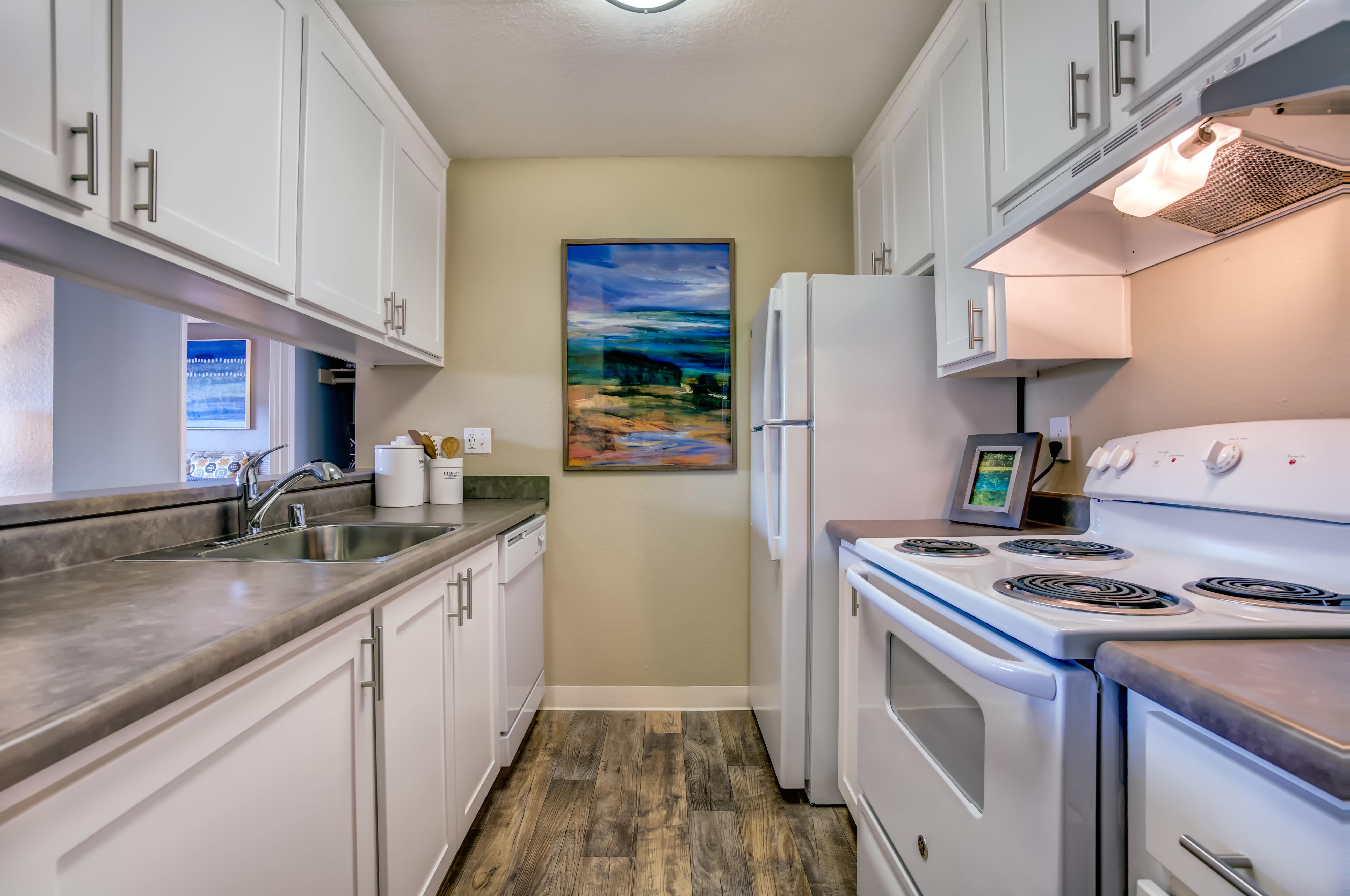 Beautiful Kitchen at Sofi at Los Gatos Creek in San Jose, CA