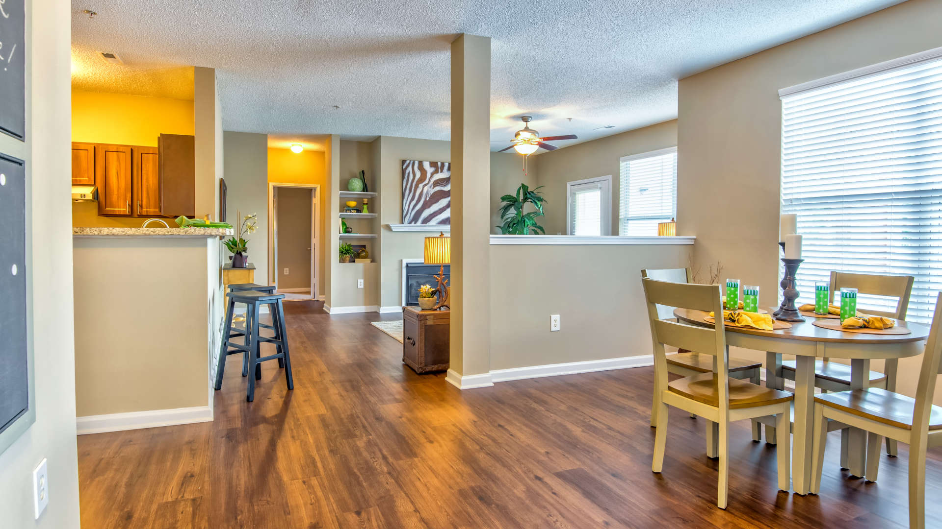 Comfortable living space at 200 East in Durham, North Carolina