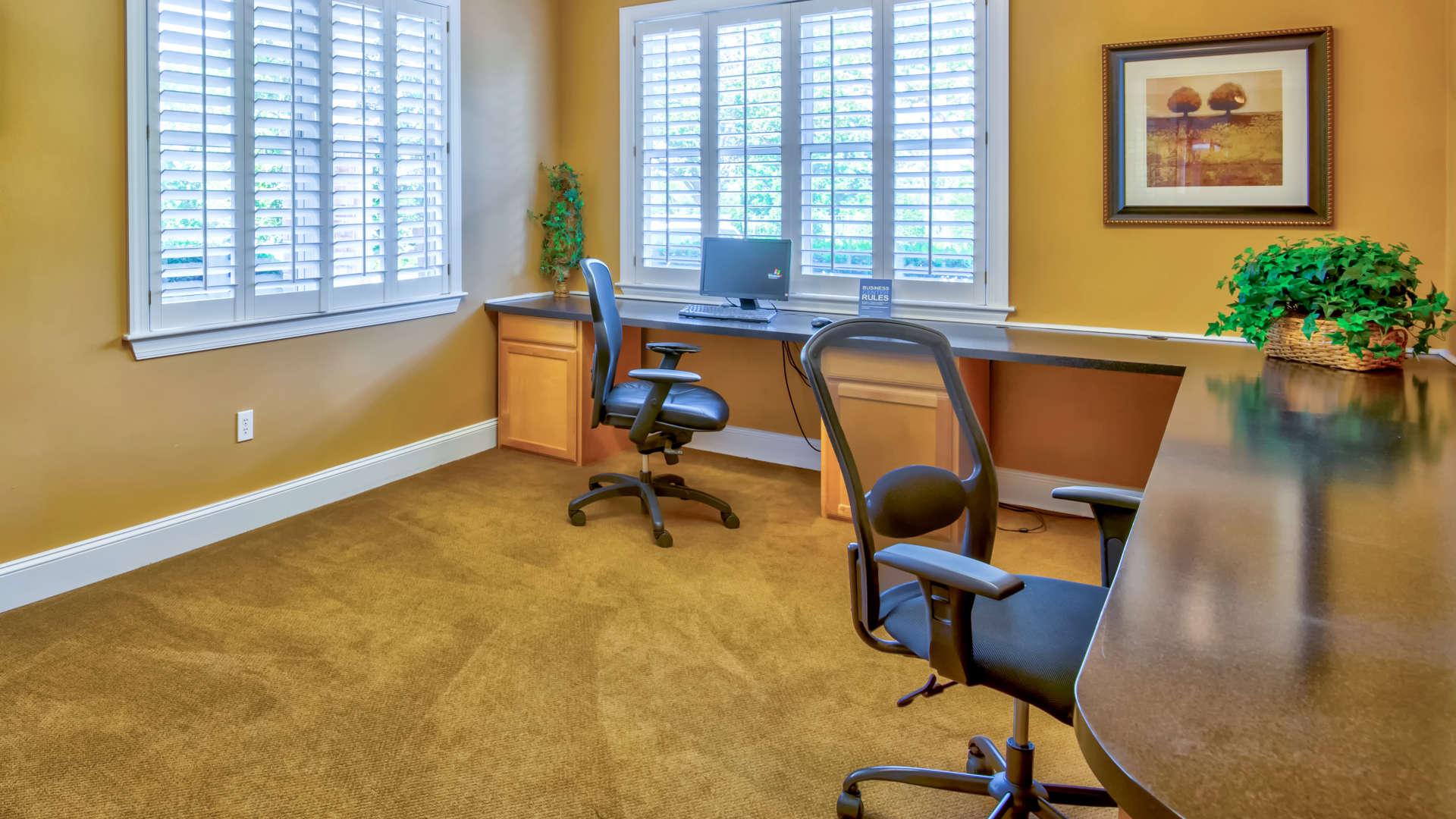 Computer room at 200 East in Durham, North Carolina