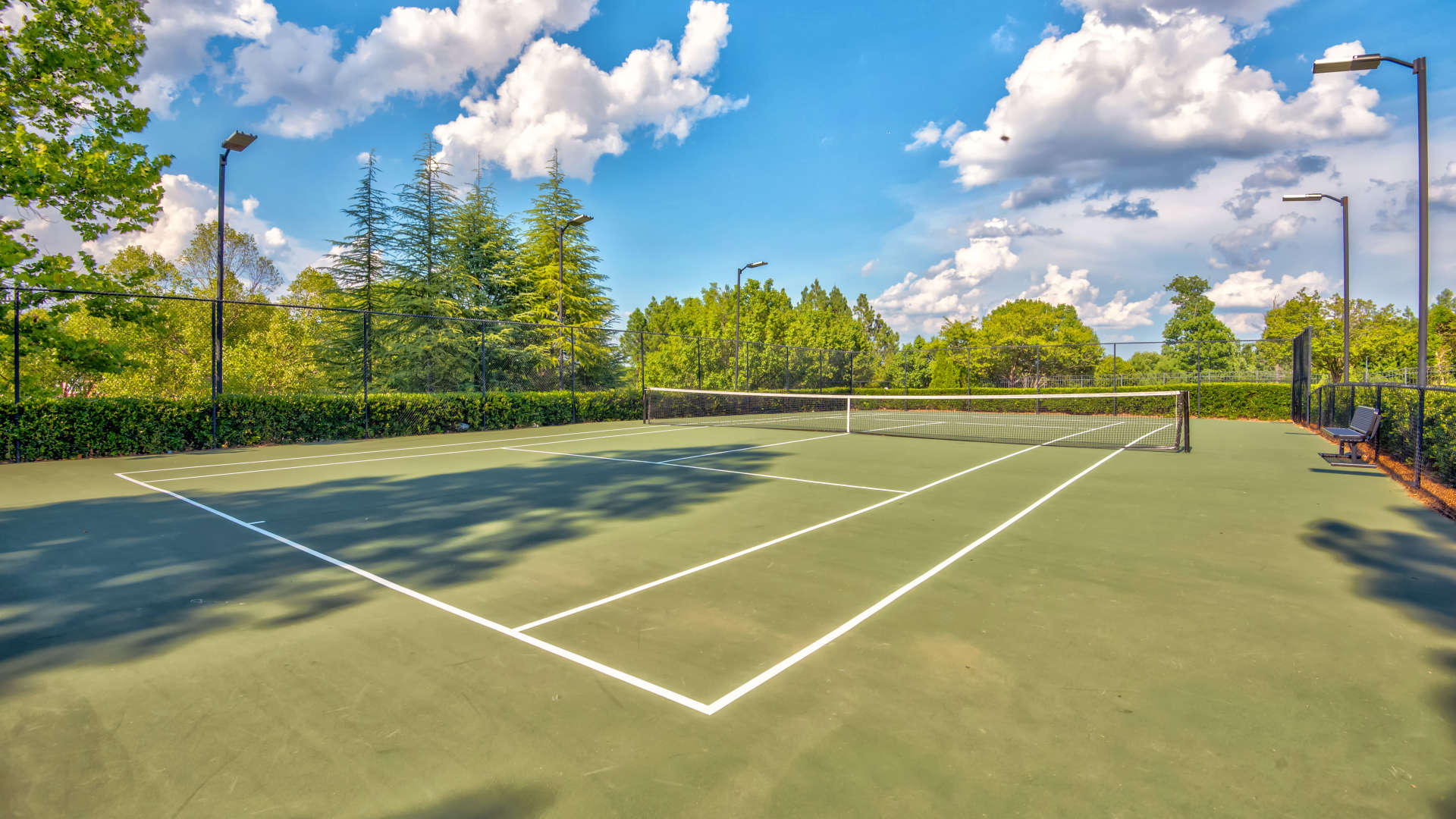 Tennis court at 200 East in Durham, North Carolina