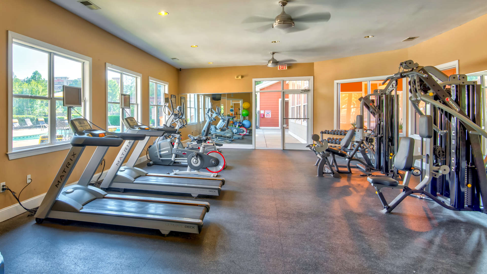 Modern Fitness center at 200 East in Durham, North Carolina