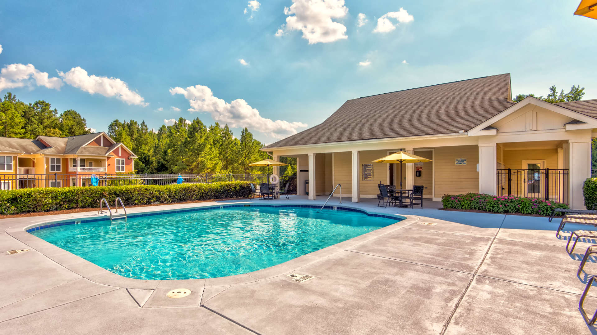 Swimming pool at 200 East in Durham, North Carolina