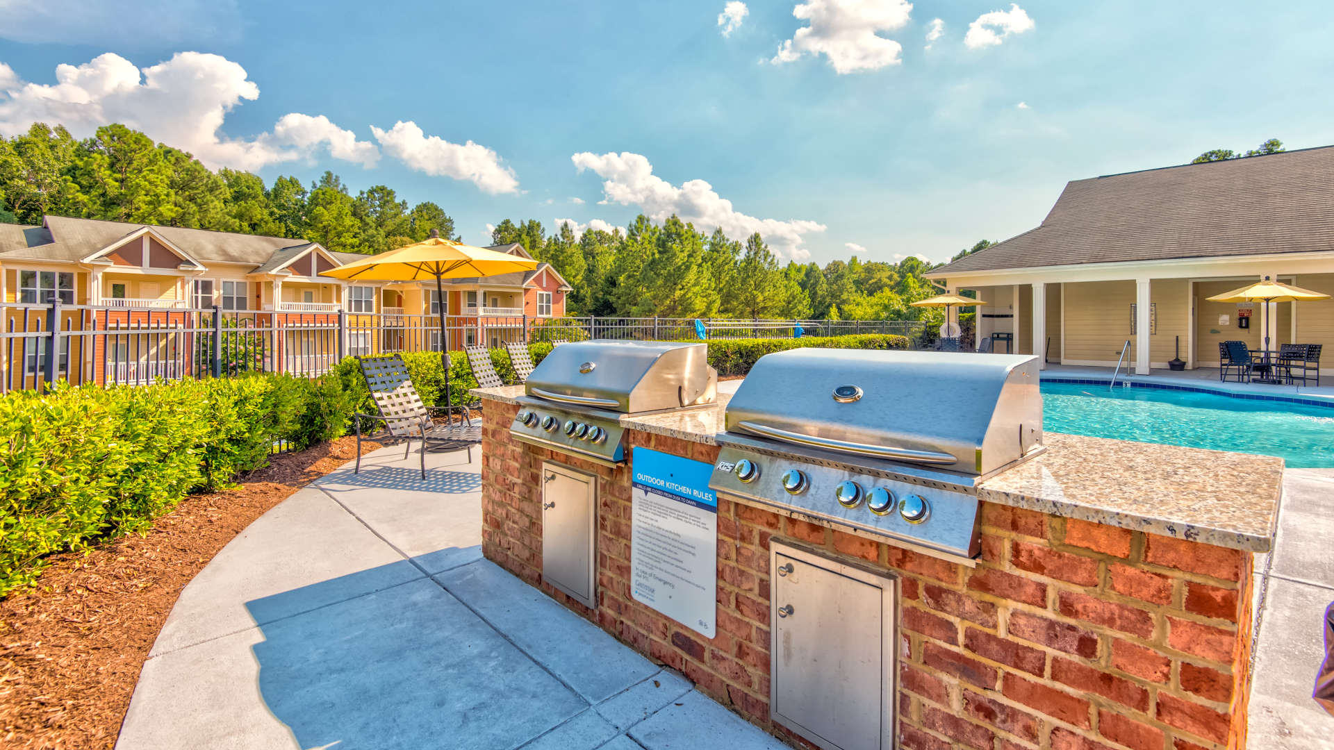 Poolside BBQs at 200 East in Durham, North Carolina