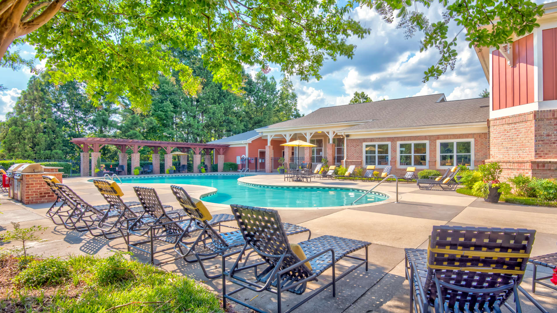 Outdoor swimming pool at 200 East in Durham, North Carolina