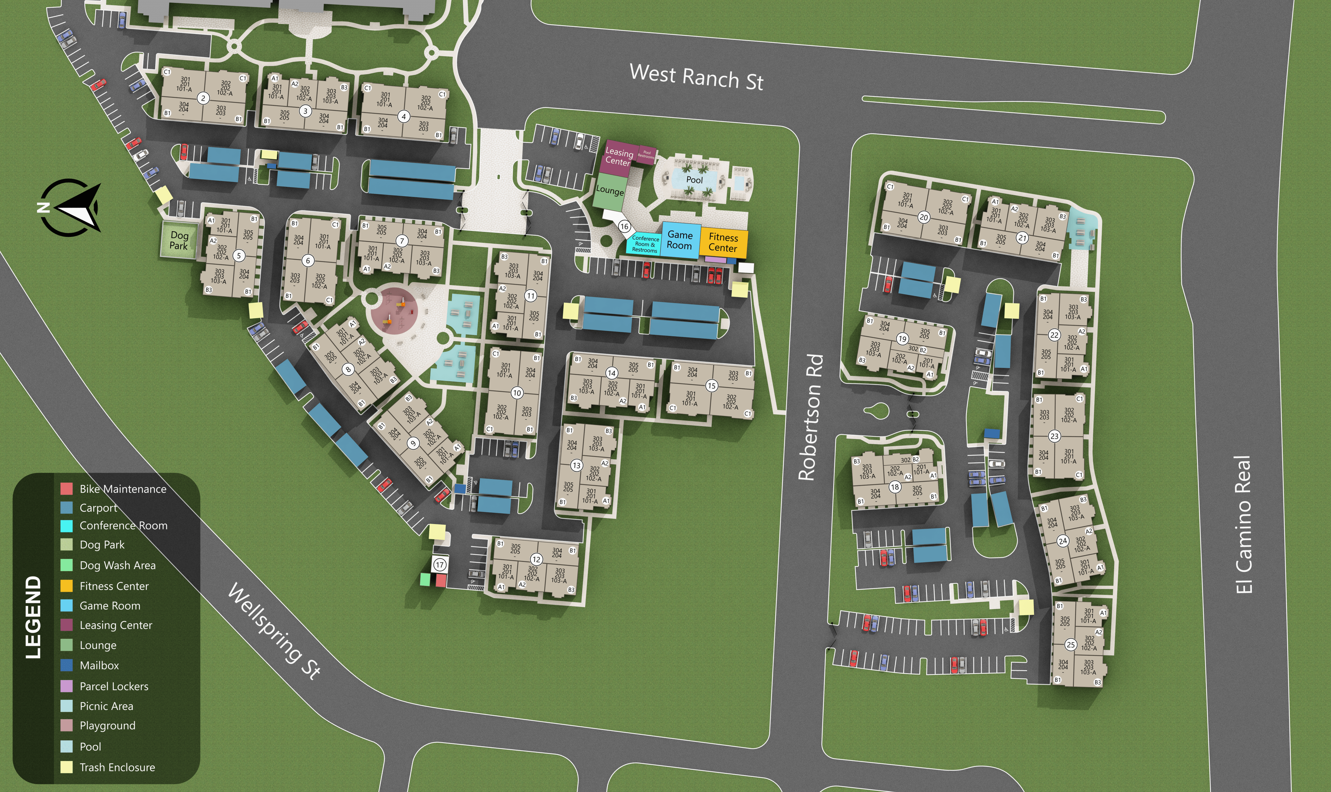 Site map for Montecito Apartments at Carlsbad- Coming Soon!