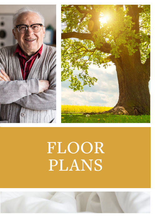Floor plans offered at Waldron Place Senior Living in Hutchinson, Kansas