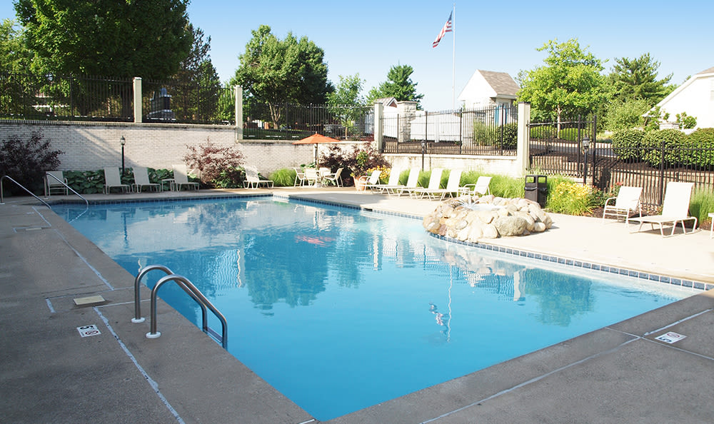 Outdoor pool at Island Club Apartments