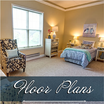 Assisted living floor plans at Regent Street Senior Living