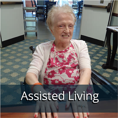 Assisted living resident at Harbour Pointe Senior Living