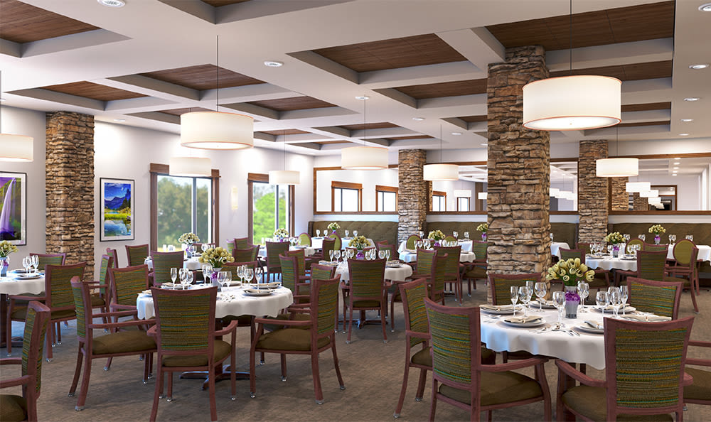 Main dining area at St. Anthony's Senior Living