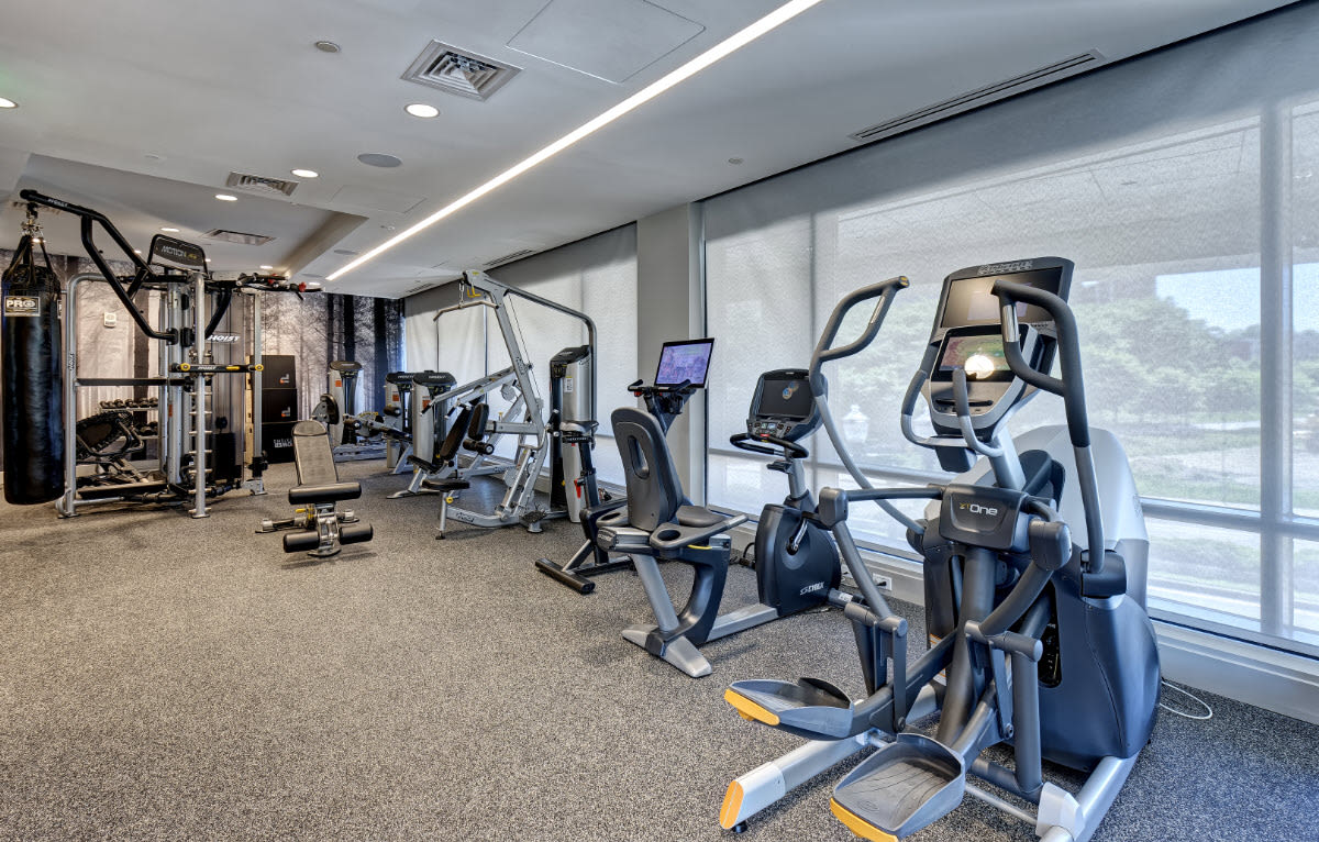 Fitness center at Vela on the Park