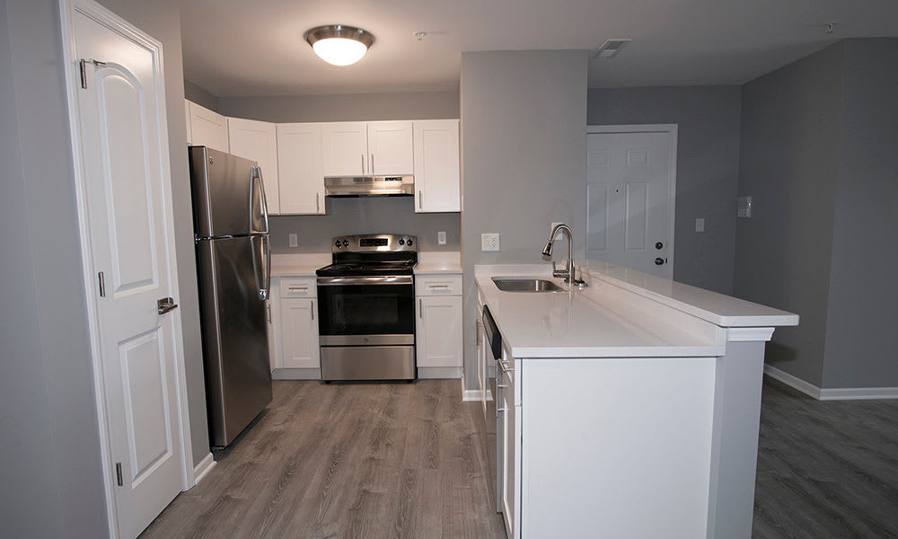 Kitchen at The Lakes at 8201 in Merrillville, IN