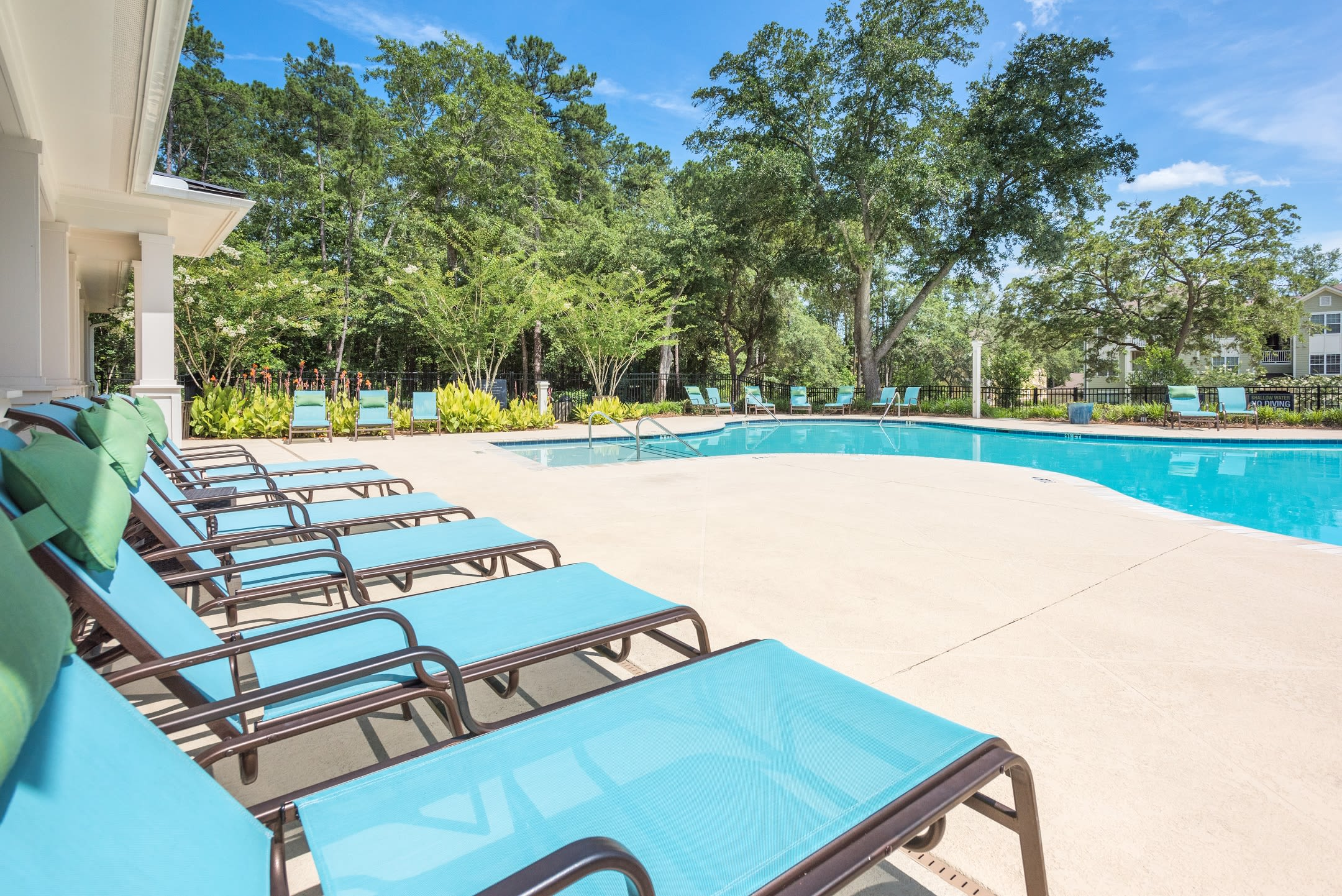 Arbor Village offers a swimming pool with long chair in Summerville, South Carolina