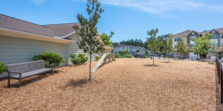 Dog park at Arbor Village in Summerville, South Carolina