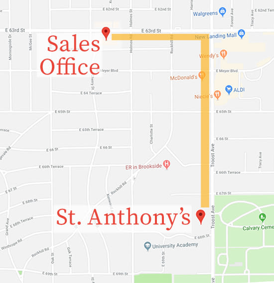 Directions to St Anthony s Senior Living in Kansas City MO