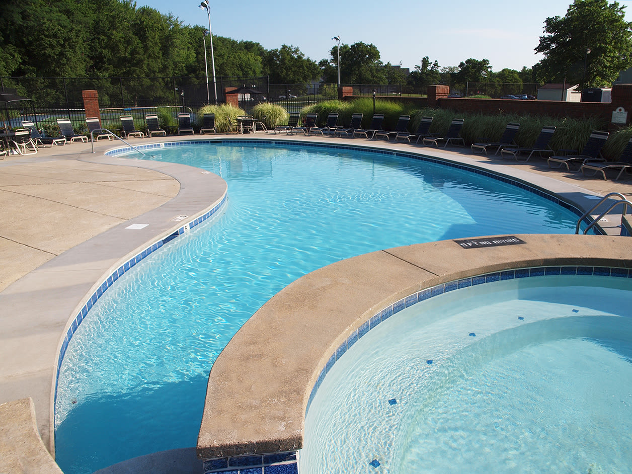 Outdoor pool at Fox Chase Apartments