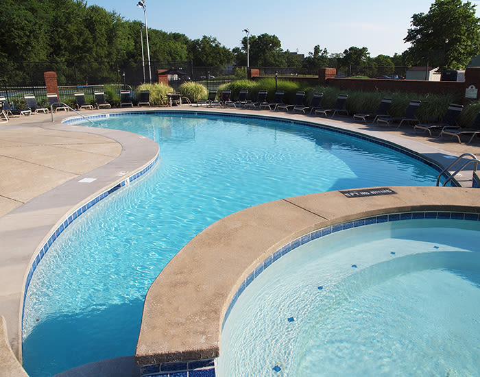 Saltwater swimming pool at Fox Chase Apartments