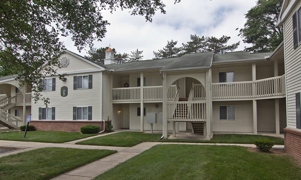 Beautiful apartments building at Steeplechase Apartments & Townhomes in Toledo, OH