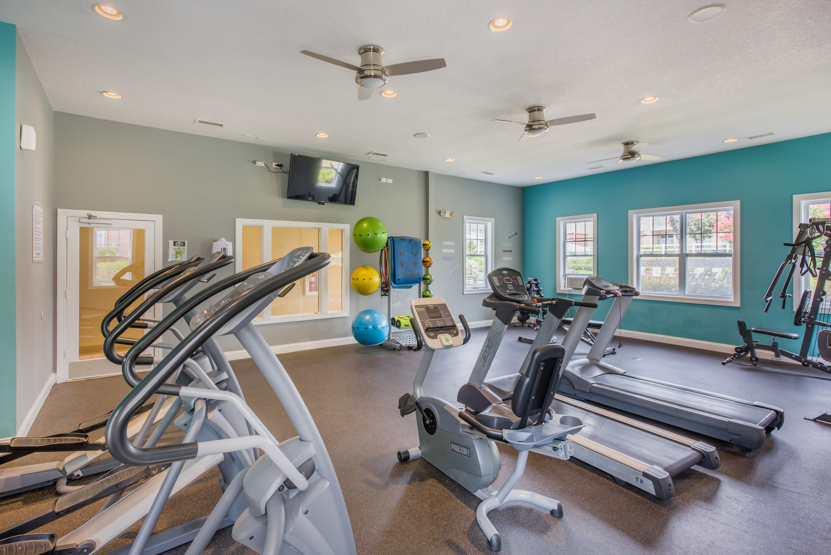 Enjoy our modern apartments fitness center at The Avant at Steele Creek in Charlotte, North Carolina