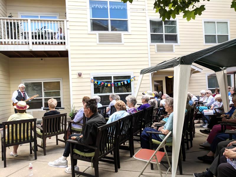 Moran Vista music at July birthday bash