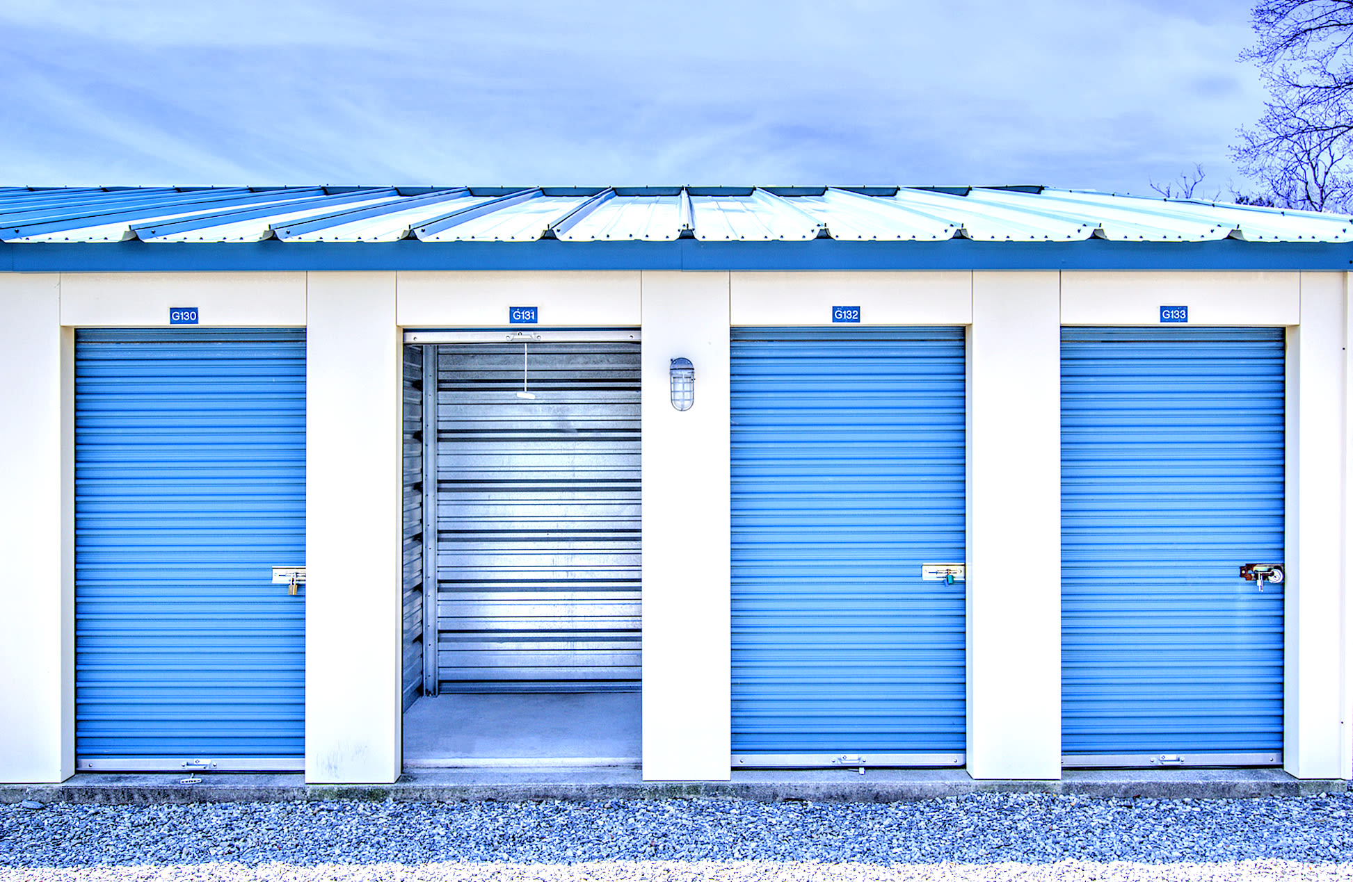 Outdoor storage units at A Safe Keeping Self Storage in Cape May Court House, New Jersey